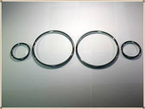 Chrome Speedometer Gauge Dial Rings Bezel Trim Chrome Tacho Rings for BMW E39 5 Series / BMW E38 7 Series / BMW E53 X5