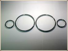 Chrome prędkościomierz Dial pierścienie wykończenie ramek Chrome Tacho pierścienie dla BMW E39 serii 5 BMW E38 7 serii BMW E53 X5 tanie tanio LARATH Chrom stylizacja 0 05kg decorate SL8002