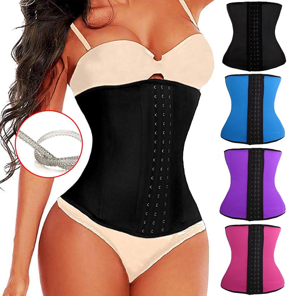 Latex waist trainer Slimming latex Belt cincher corset slimming modeling strap shaper body shaper slimming latex corset