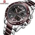 NAVIFORCE новые мужские часы Топ люксовый бренд мужские водонепроницаемые спортивные часы кварцевые аналоговые цифровые наручные часы Relogio ...