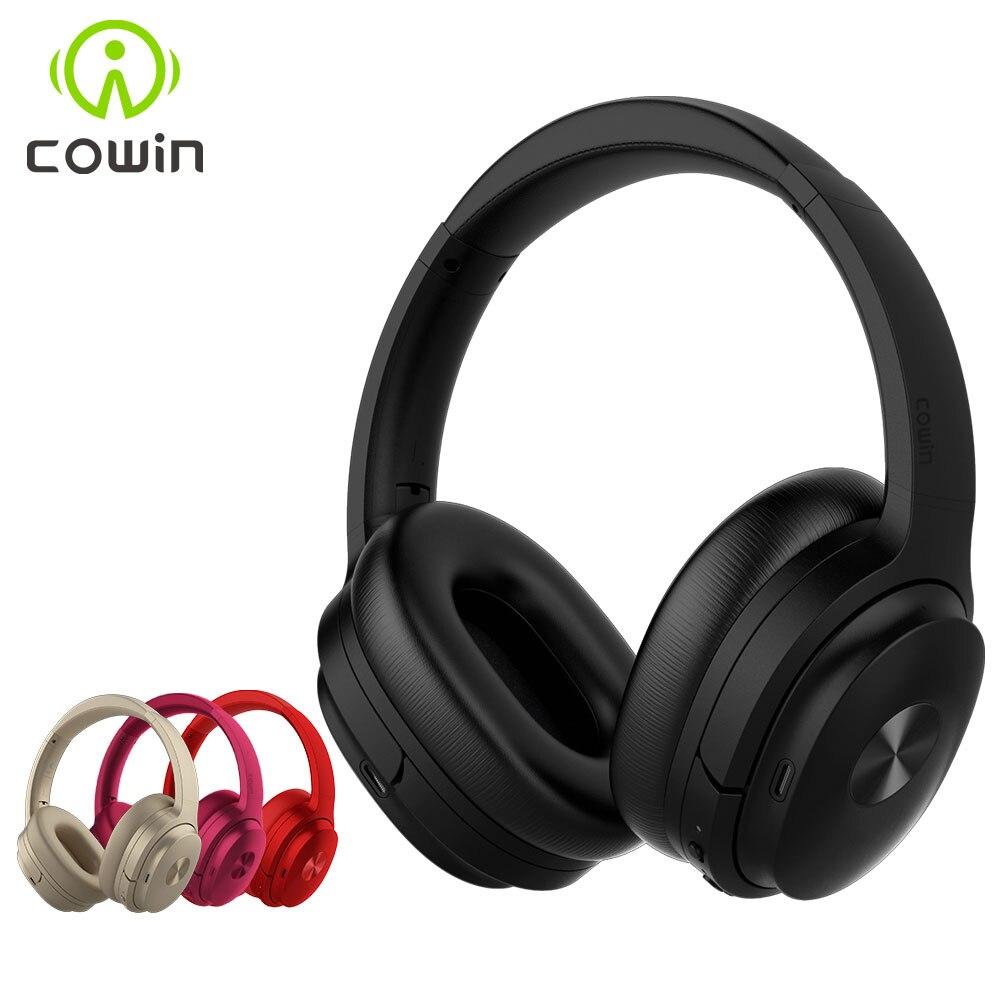 Cowin se7 anc cancelamento de ruído ativo fones de ouvido bluetooth fone de ouvido sem fio com microfone apt-x para telefones-nível 30db