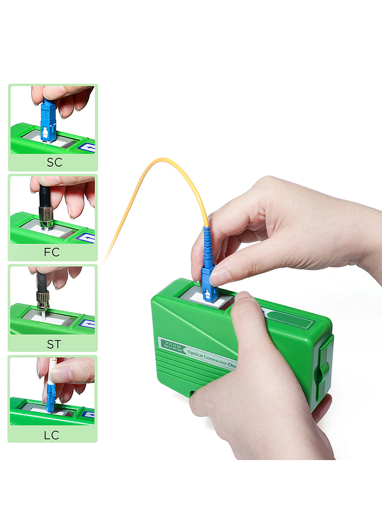 Cleaner Wiping-Tool Optic-Fiber-Cleaner-Tools Pigtail Cassette Face-Cleaning-Box Ftth