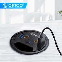 ORICO 5 Ports USB HUB haute vitesse 5gbps passe-fil de bureau avec USB 3.0 casque Microphone Type C Port adaptateur pour PC portable