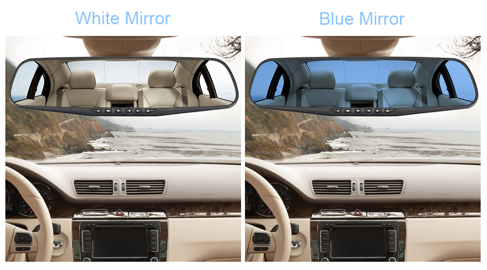 OMGO Car Dvr Dash Cam Dual Lens Rear View Mirror Auto Dashcam Recorder Registrator In Car Video Full Hd Dash Camera Vehicle
