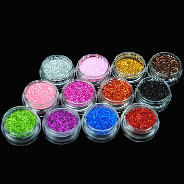48Pcs Body Glitter Powder For Eye Body Art Decoration Mix Glitter Ultra Fine Nail Art Glitter Colorful Dust Powder Makeup 6