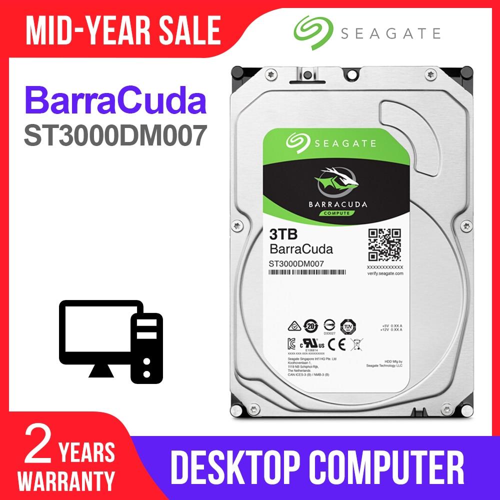 Disque dur interne Seagate 3 to HDD de bureau disque dur d'origine 3.5 ''3 to 5400 tr/min SATA 6 Gb/s disque dur pour ordinateur ST3000DM007