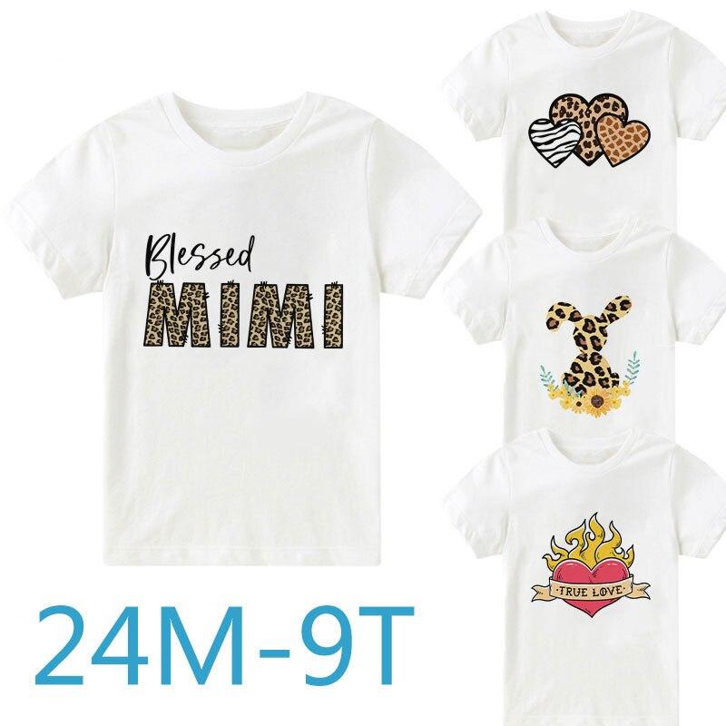 I Love Anime Shirt Baby Girls Ruffles Print Basic Shirt for 2-6 Years Old Baby