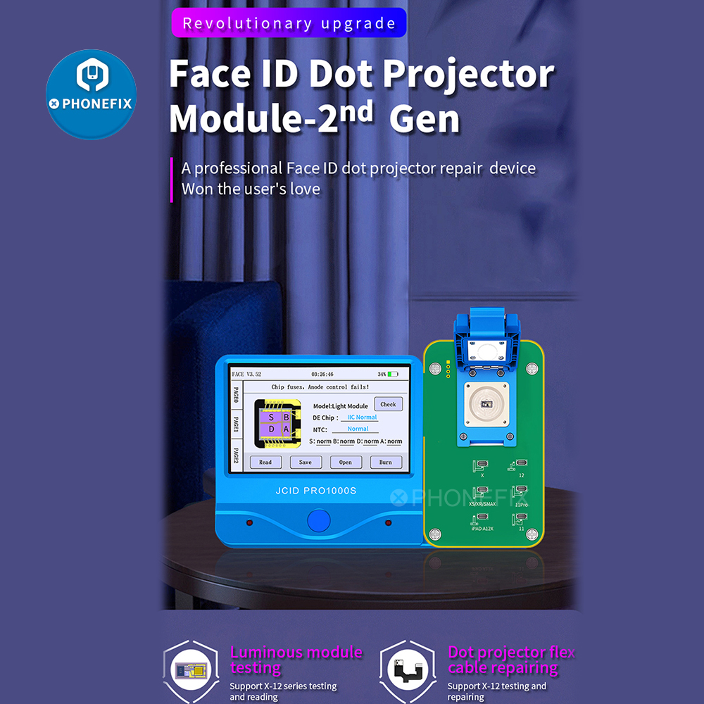 JC IFace Dot Matrix Detection Module for iPhone Ipad Face ID Dot Projector Flex Cable