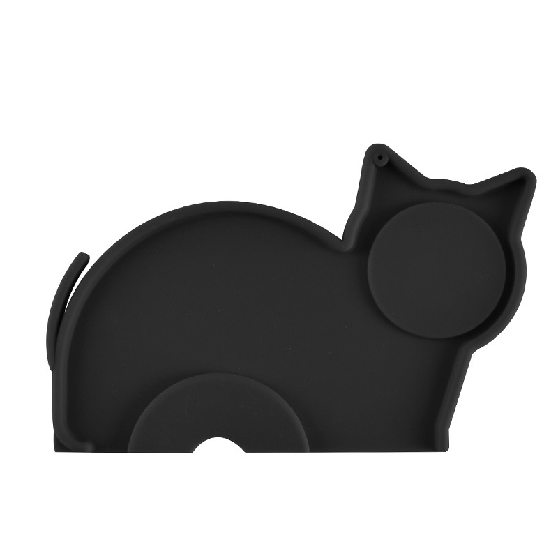 Silicone Espresso Tamping Mat, Creative Cat Shape Non-Slippery And Food-Safe Coffee Tamper Pad To Protect Your Worktop