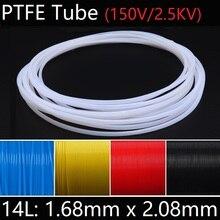 14л 1,68 мм x 2,08 мм PTFE трубка Т эфлон Изолированная жесткая капиллярная F4 труба высокая термостойкость передающий шланг 150 в красочные