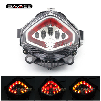 For HONDA CB400X CB500X CBR400R CBR500R CB500F 2013-2015 14 Motorcycle Integrated LED Tail Light Turn signal Blinker Lamp Clear