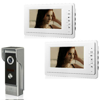 "Wired Video Door Phone Intercom System 7""Color LCD With Waterproof Digital Doorbell Camera Viewer IR Night Vision"