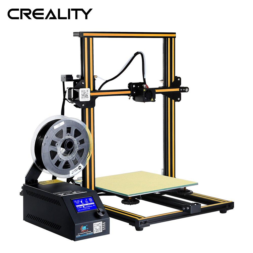 Оригинальный большой размер печати CREALITY CR-10 3D принтер полностью металлический DIY набор с 200G PLA
