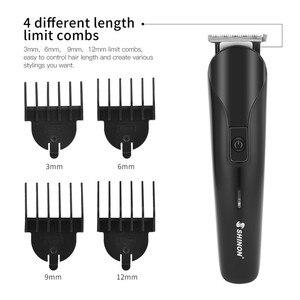 Image 4 - 6 1 çok fonksiyonlu sakal düzeltici elektrikli saç kesme makinesi, kablosuz saç giyotin şarj edilebilir tıraş Razor burun düzeltici erkekler