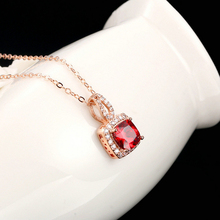 KOFSAC Latest Female 925 Silver Necklace For Women Engagement Jewelry Top Quality Crystal Rose Gold Girl Pendants Bijou