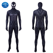 Manluyunxiao Venom Cosplay Marvel Superhero Edward Eddie Brock Black Suit Spiderman Halloween Costumes For Men Adult Custom Made
