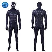 Manluyunxiao Venom Cosplay Marvel Superhero Edward Eddie Brock Black Suit Spiderman Halloween Costumes For Men Adult Custom Made