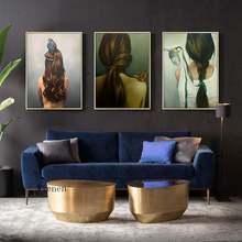 Картина на холсте цветы птица абстрактные женские перья настенный