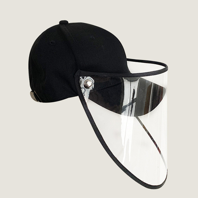 Anti Flu Protective Cap Mask Eye Protection Baseball Cap Unisex Removable Oil-Splash Proof Anti-saliva Face Cover