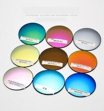 Multi colors Mirrored A Pair Polarized Colorful Aspheric Prescription Myopia Presbyopia CR 39 Anti Radiation