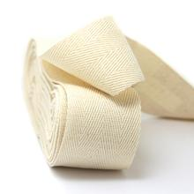 5meter natural 100% cotton ribbon webbing herring bonebinding tape lace trimming for packing accessories DIY