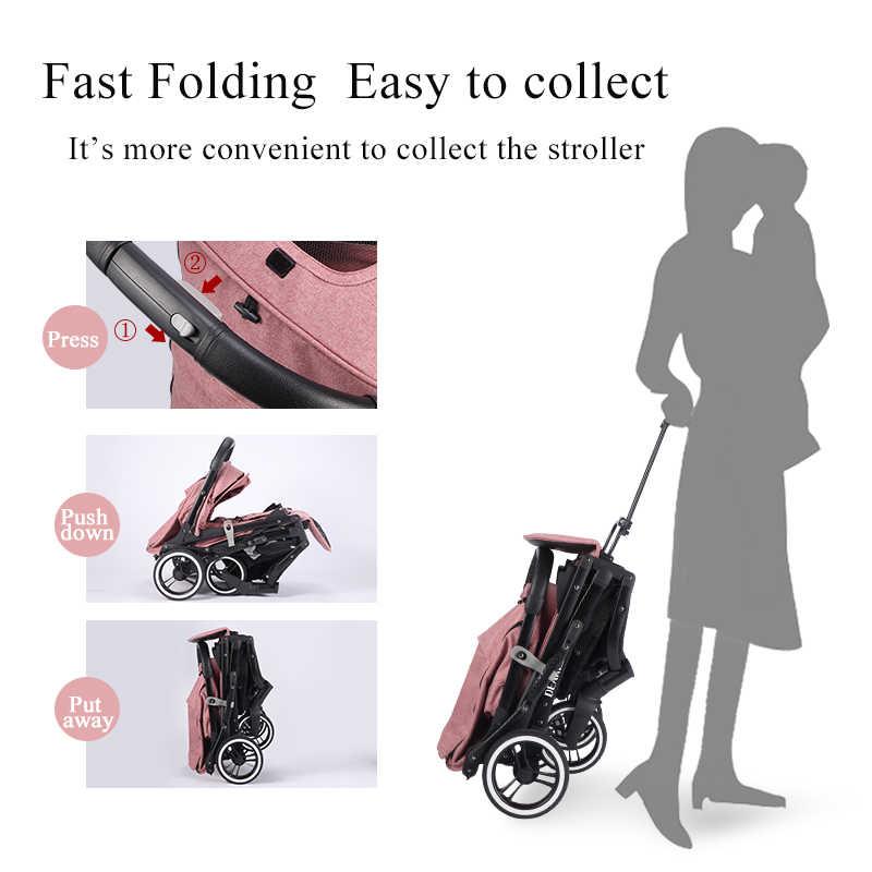 ¡Novedad de 2020! Carrito de bebé plegable portátil con ruedas grandes, mini reposabrazos ligeros, venta al por mayor, envío gratis