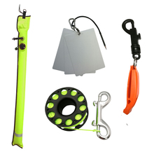 Slate-Board Buoy Scuba-Diving-Reel Underwater Signal-Marker Finger-Spool Writing 30m