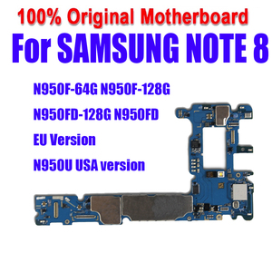 Image 1 - 100% Tested Unlock for Samsung Note 8 N950F N950FD Motherboard Full Function Mainboard for SM N950U Logic Boards with full chips