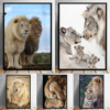 Lion Family Wall Art Decoration Printed on Canvas 1