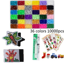 48 Colors Box Set Hama Beads 5mm DIY Toys Ironing Beads 5mm Educational Kids Diy Toys Fuse Beads Pegboard Sheets Free shipping