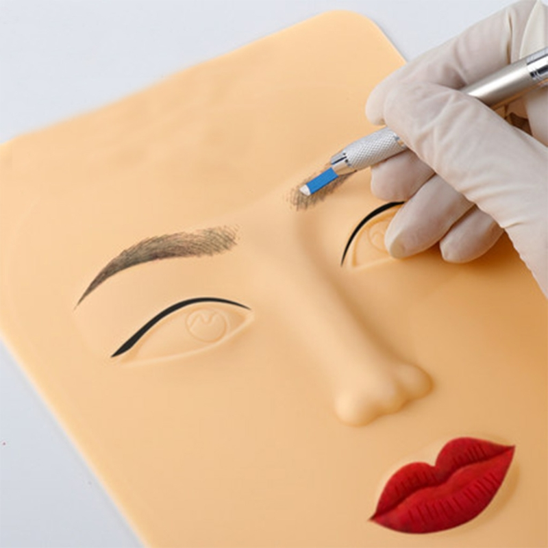 3D Silicone Face Tattoo Practice Fake Skins Beginners Permanent Makeup Tools New
