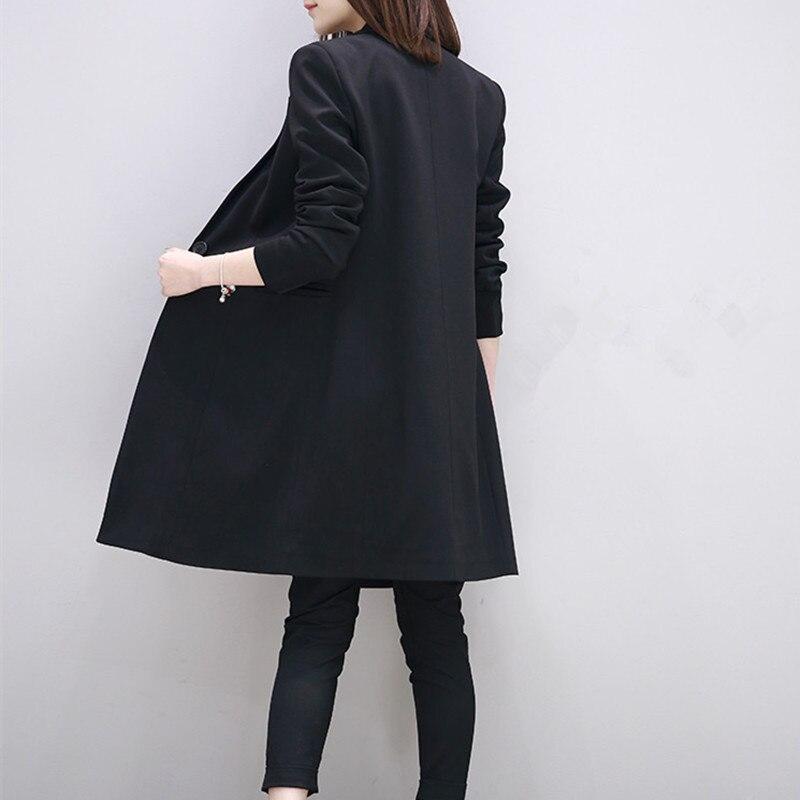 White/Black Women Blazers And Jackets Long Korean Style Blazer Feminino S-2XL Fashion Casual Blazer Female CJ022