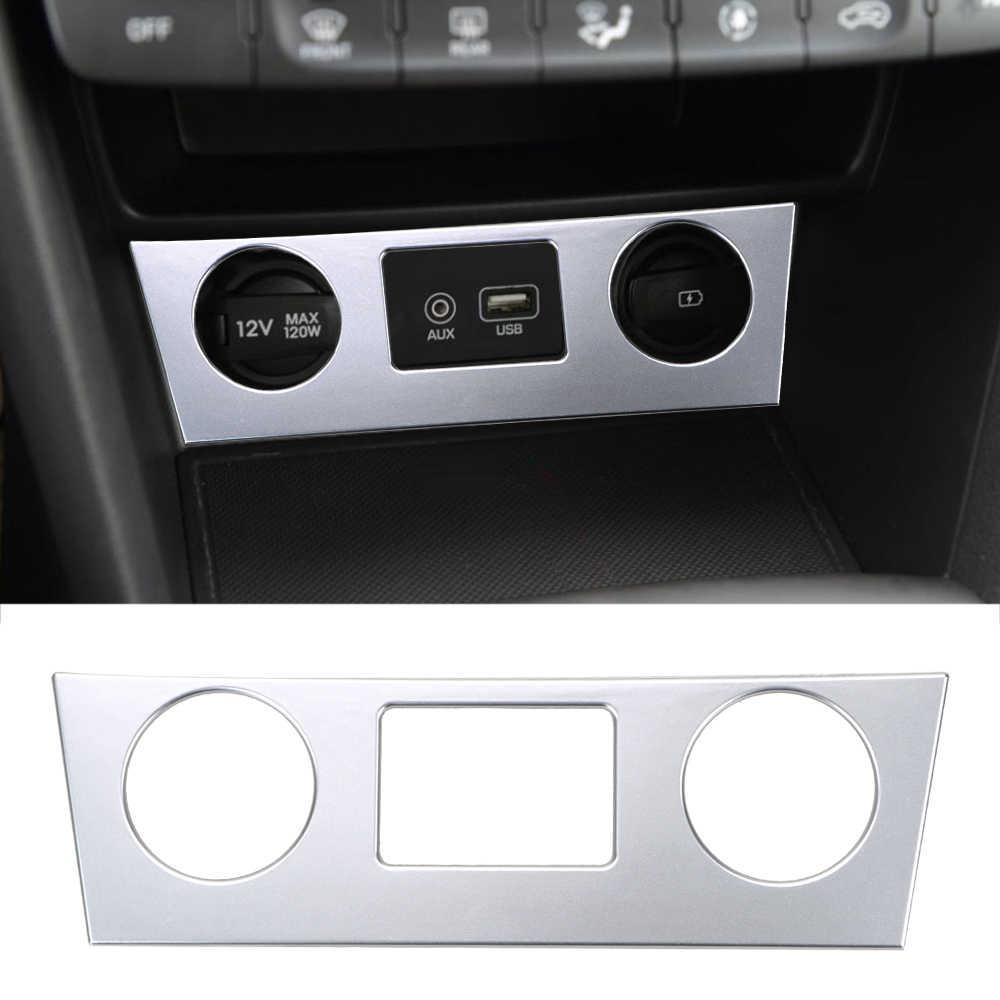 Console Air Conditioner Button Cover Car Styling Auto Decoration for Hyundai Encino Kauai Kona 2017 2018 2019 2020 SUV