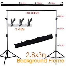 2,8*3 м стойку задника для фотографии фон для детской фотосъемки Регулируемая подставка для фотосъемки Поддержка рамка