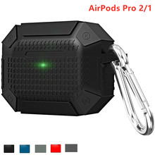 Silicone case for Airpods Pro/2/1 Accessories Luxury Armor earpods aipods airpod