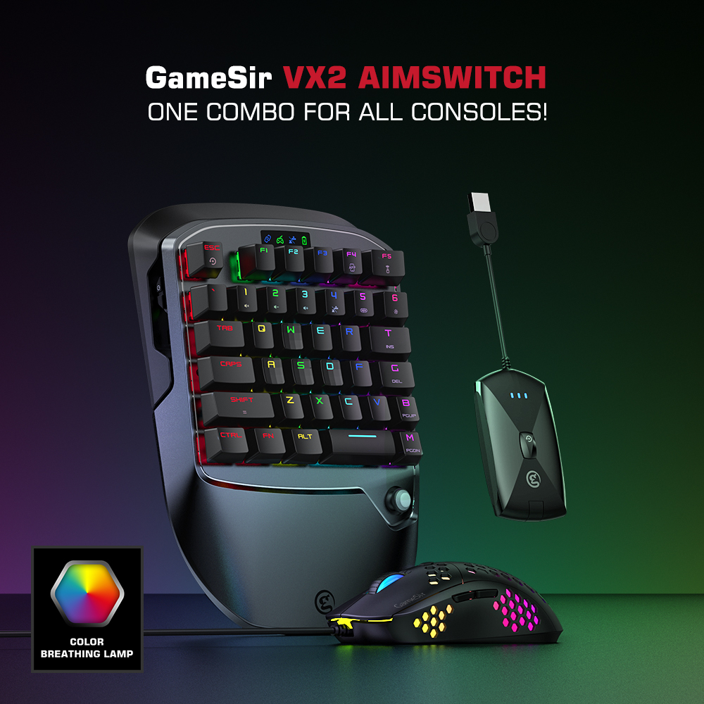 Gamesir Vx2 Aimswitch Wireless Gaming Keyboard And Mouse Adapter For Xbox One Ps4 Nintendo Switch Video Games Call Of Duty Gamepads Aliexpress