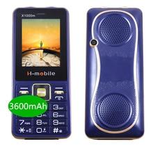 Power Bank 3600MAh 2.4นิ้ว3ซิมการ์ดMp3บลูทูธ2ไฟฉายSpeed DialกันกระแทกรัสเซียPushปุ่มจีนโทรศัพท์มือถือ
