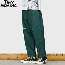 2019 Hip Hip Pant Harajuku japońska moda uliczna mężczyźni proste spodnie Japan Style biegaczy spodnie letnie spodnie wiosenne HipHop odzież