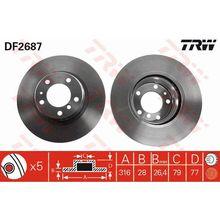 Диск тормозной передний BMW E38 2.5-3.5 M51/M52/M57/M60/M62 93 T
