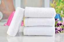 1PC 30*65cm Cotton Towel Bathroom Face Towel Bath Towels For Adults Super Absorbent Soft Hotel White Washcloth Hand Towels(China)
