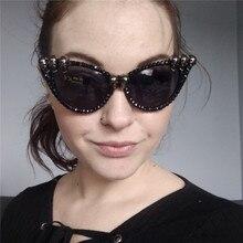 Vazrobe Cat Eye Sunglasses Women Vintage Steampunk Glasses Skull Skeletone Punk Shades Woman Round Square Retro 80s