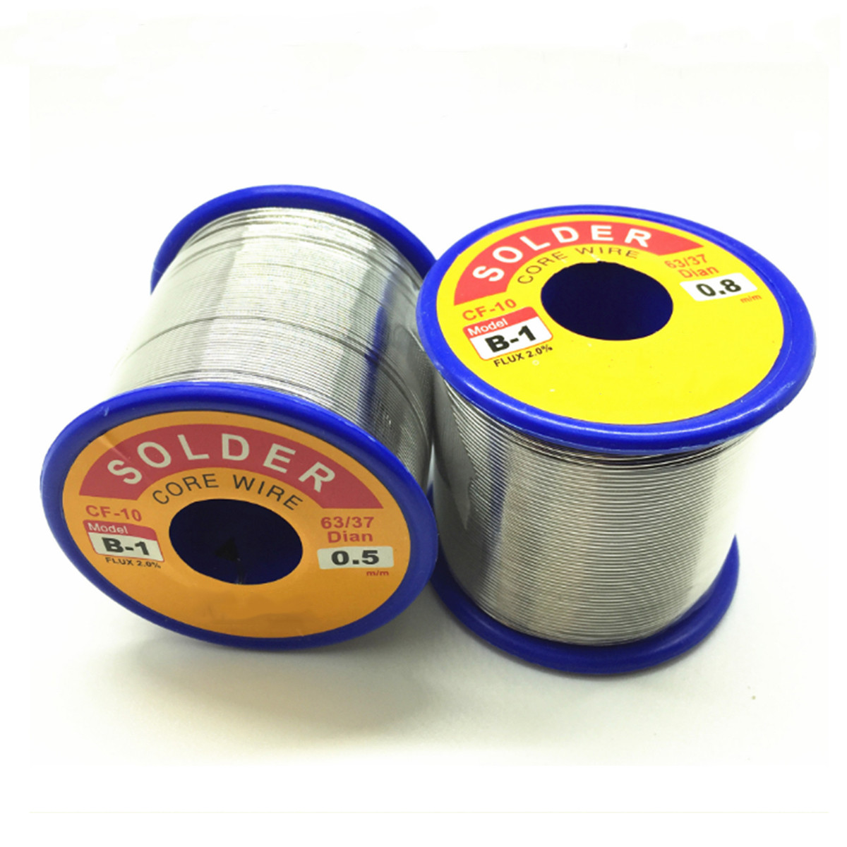 New 500g One Roll 63/37 Tin Lead Line Soldering 0.5/0.6/0.8/1.0/1.2/1.5/2.0mm Solder Core Wire Reel Soldering Tools