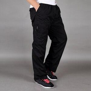 Image 2 - Pantalones gruesos de terciopelo para invierno, algodón, holgados, de gran tamaño, rectos, con múltiples bolsillos, para herramientas