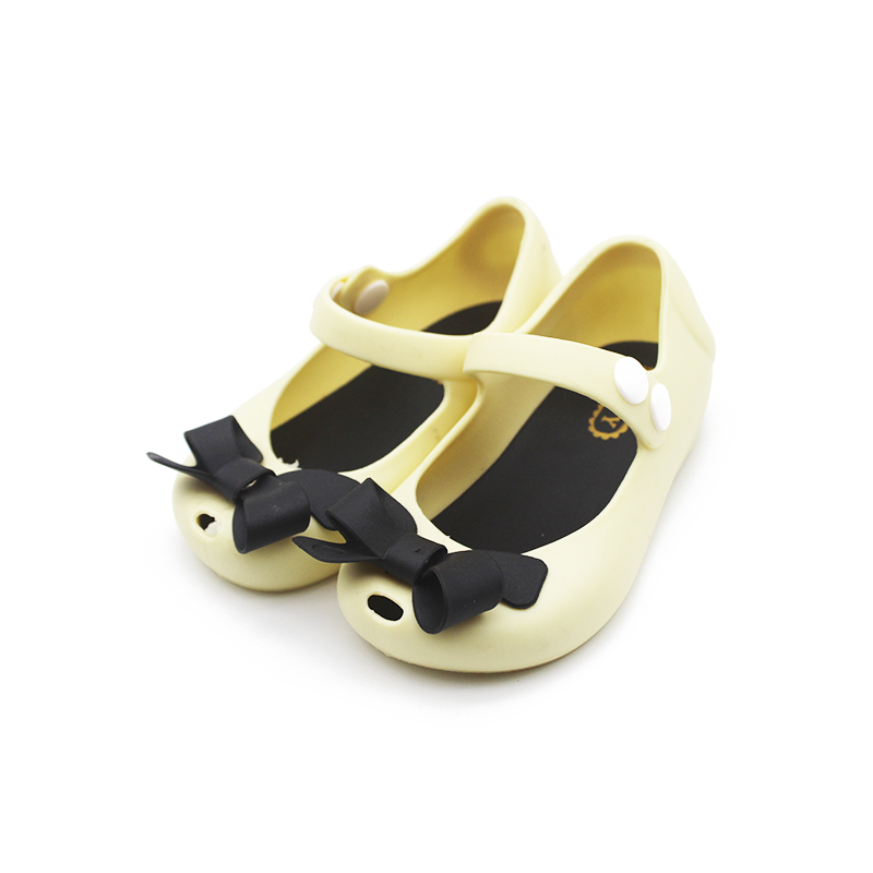 Mini Melissa Style 2018 New Girls Little Butterfly Jelly Sandals Butterfly Knot Soft Bottom Girls Sandals Baby Beach Shoes