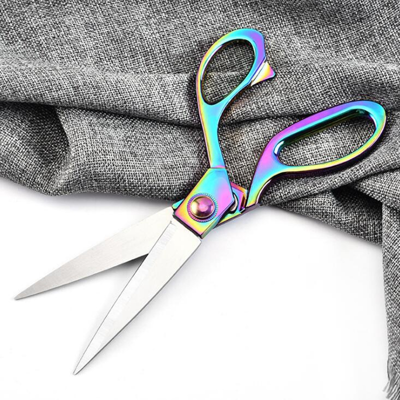 Pulaqi Professional Sewing Scissors Vintage High Quality Stainless Steel Embroidery Textile Leather Denim Cutter Tool