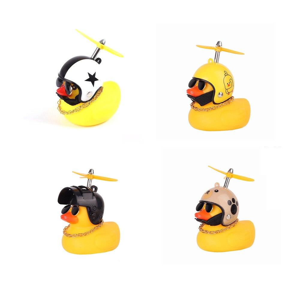 Автомобильная утка с подвеской на шлем и сломанным ветром, маленькая Желтая утка, шлем для дорожного велосипеда, аксессуары для езды на вело...