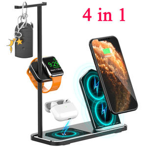 Base Qi-Charging-Dock-Station Watch-Series Airpods Pro iPhone Wireless-Charger Type-C