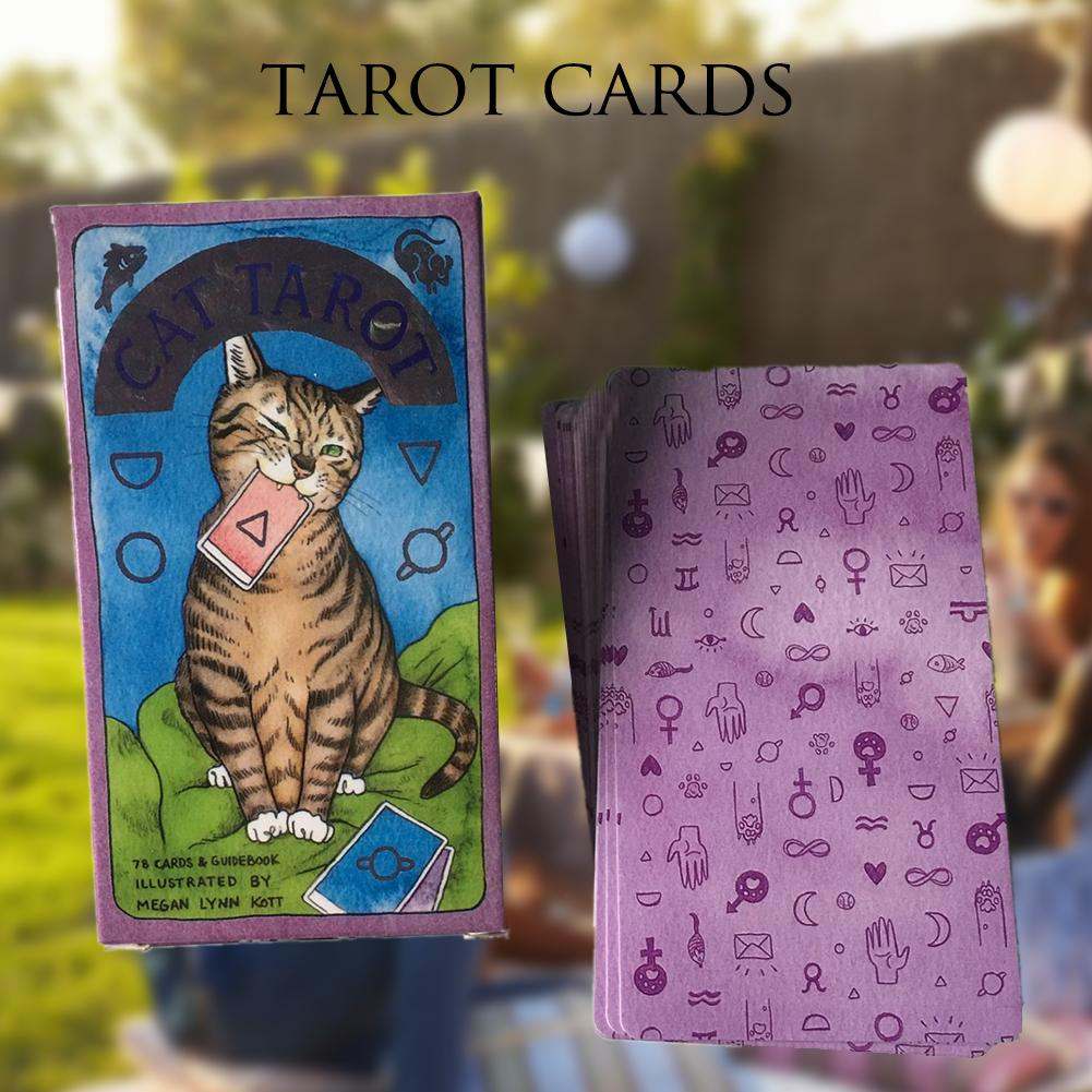 78 Cat Tarot Cards Magic Tarot Cards Full English Read Fate Board Game Smith Tarot Deck Board Game Family Playing Cards Gift 5