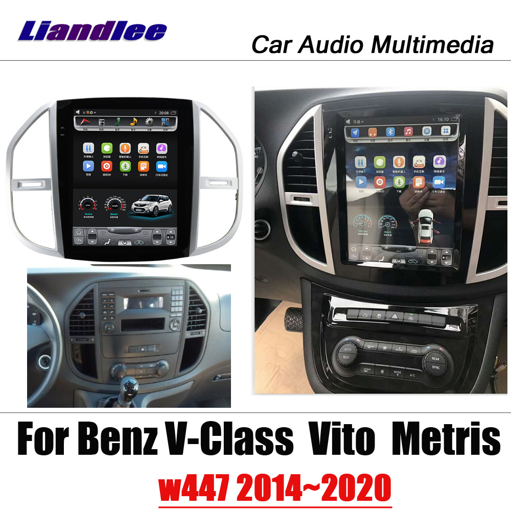 12.1 Car Tesla Multimedia System For Mercedes Benz V-Class/Viano/Metris/Valente <font><b>W447</b></font> 2014~2020 radio <font><b>android</b></font> Map GPS Navigation image
