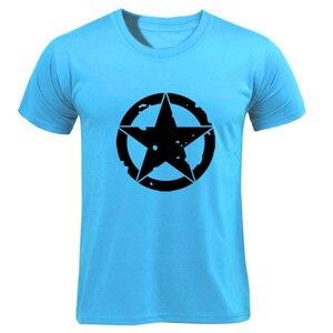 T Shirt 2019 Fashion Men T-Shirts Captain America Distressed Shield Logo Comics Adult Shirt Cotton TShirt Fitness(China)